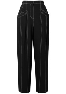Derek Lam Woman Paneled Crepe Tapered Pants Black