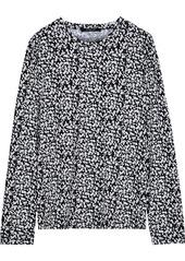 Derek Lam Woman Printed Cotton-jersey Top Black