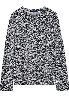 Derek Lam Woman Printed Cotton-jersey Top Black