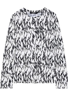 Derek Lam Woman Printed Cotton-jersey Top Ivory