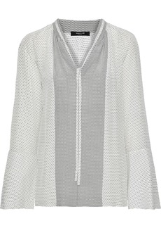 Derek Lam Woman Printed Silk Crepe De Chine Blouse White