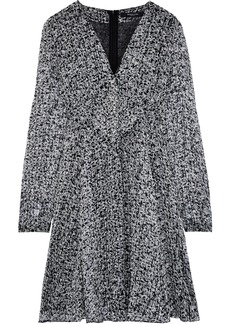 Derek Lam Woman Printed Silk-georgette Dress Gray