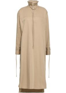 Derek Lam Woman Ruffle-trimmed Stretch-cotton Midi Dress Sand