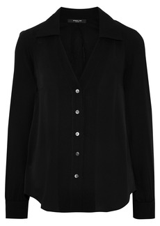 Derek Lam Woman Silk Crepe De Chine Blouse Black