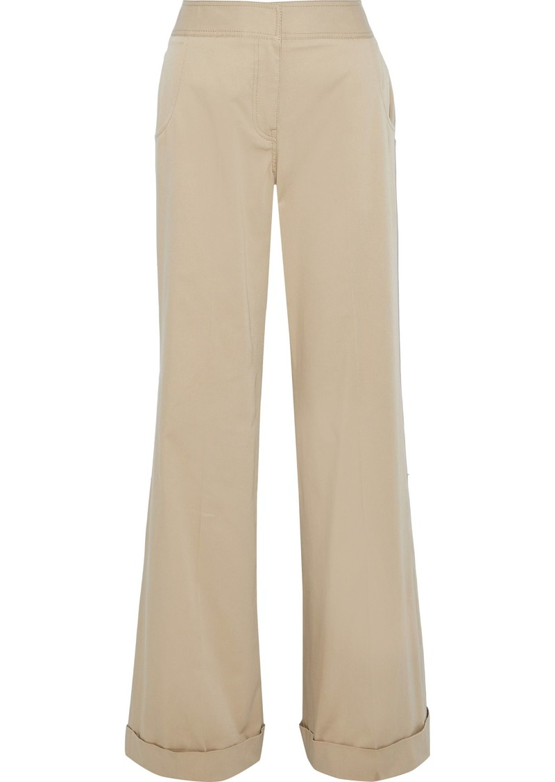 Derek Lam Woman Stretch-cotton Twill Wide-leg Pants Sand