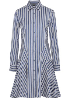 Derek Lam Woman Striped Cotton-jacquard Shirt Dress Azure