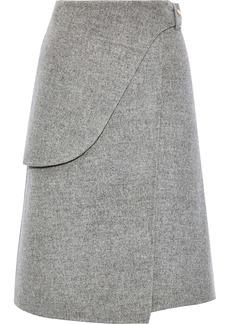 Derek Lam Woman Wool And Mohair-blend Wrap Skirt Gray