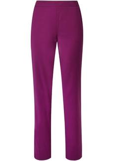 Derek Lam Woman Wool-blend Crepe Straight-leg Pants Plum