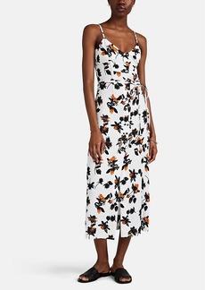 Derek Lam Women's Button-Detailed Floating-Floral Cami Dress