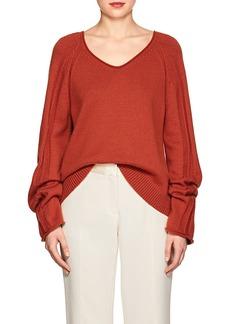 Derek Lam Women's Cashmere-Cotton V-Neck Sweater