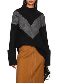 Derek Lam Women's Chevron-Striped Cashmere Sweater