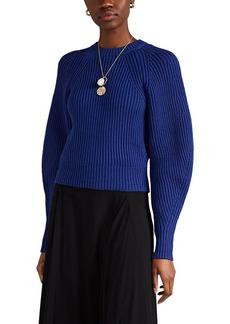 Derek Lam Women's Chunky-Knit Cotton-Blend Puff-Sleeve Sweater