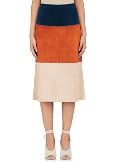 Derek Lam Women's Colorblocked Leather Skirt