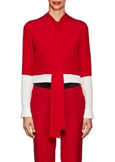 Derek Lam Women's Colorblocked Silk Blouse