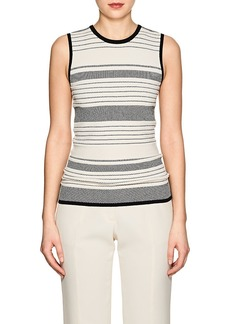 Derek Lam Women's Compact Knit Sleeveless Top - Black