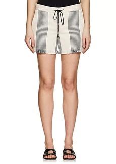 Derek Lam Women's Cotton-Blend Basket-Weave Shorts
