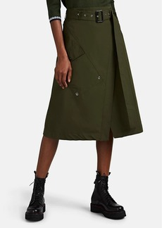 Derek Lam Women's Cotton Poplin Belted Wrap Skirt