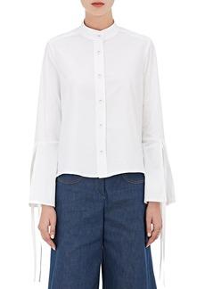 Derek Lam Women's Cotton Poplin Self-Tie-Cuff Shirt