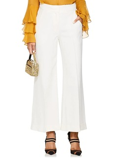 Derek Lam Women's Crepe Crop Wide-Leg Trousers