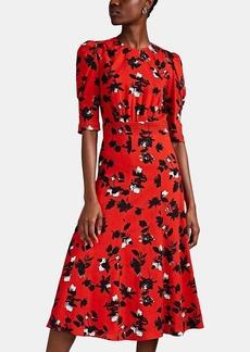 Derek Lam Women's Floating-Floral Crepe Midi-Dress