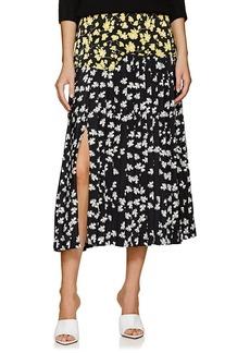 Derek Lam Women's Floral Silk Crepe Skirt