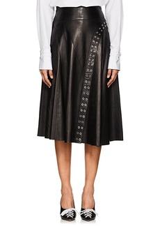 Derek Lam Women's Grommet-Embellished Leather Skirt