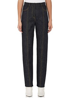 Derek Lam Women's High-Rise Tapered-Leg Jeans