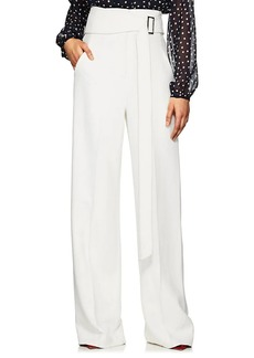 Derek Lam Women's High-Waist Crepe Wide-Leg Trousers