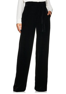 Derek Lam Women's High-Waist Velvet Wide-Leg Trousers