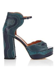 Derek Lam Women's Kimble Leather & Snakeskin Platform Sandals