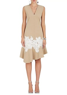 Derek Lam Women's Lace-Appliquéd Cotton Dress
