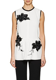 Derek Lam Women's Lilly-Embellished Cady Blouse