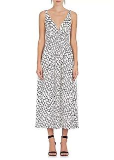Derek Lam Women's Net-Print Silk Sleeveless Midi-Dress