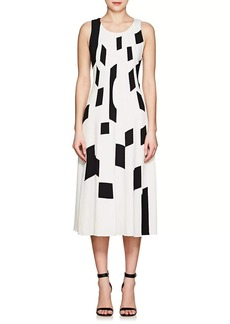 Derek Lam Women's Patchwork Crepe Midi-Dress