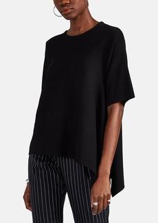 Derek Lam Women's Rib-Knit Cashmere-Silk Asymmetric Blouse