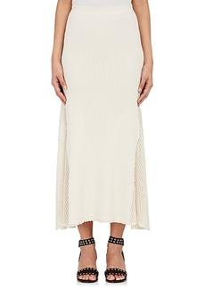 Derek Lam Women's Ribbed Mesh-Inset Midi-Skirt