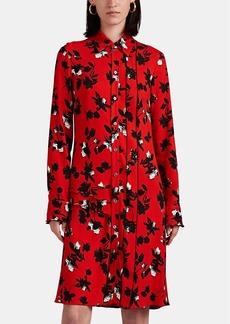 Derek Lam Women's Ruffle Floral Crepe Shirtdress