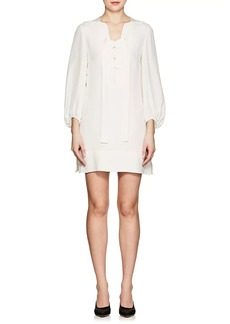 Derek Lam Women's Silk Crepe Lace-Up Shift Dress