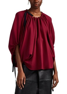 Derek Lam Women's Silk Crêpe De Chine Balloon-Sleeve Blouse