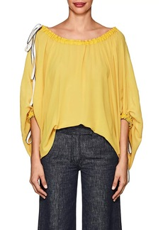 Derek Lam Women's Silk Drawstring Balloon Blouse