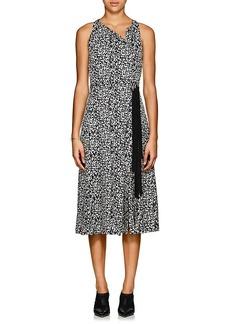 Derek Lam Women's Silk Jacquard Belted Dress