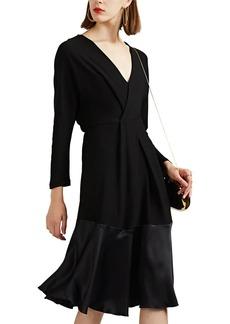 Derek Lam Women's Silk-Trimmed Cady Midi-Dress