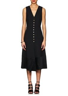 Derek Lam Women's Snap-Front Cady V-Neck Midi-Dress