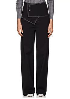 Derek Lam Women's Stretch Cotton-Blend Flared Trousers