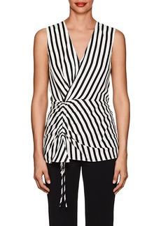Derek Lam Women's Striped Silk Sleeveless Blouse