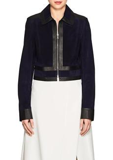 Derek Lam Women's Suede & Leather Crop Jacket