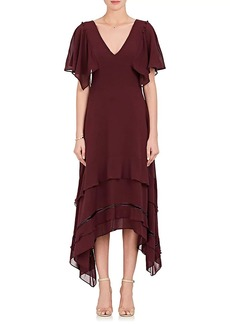 Derek Lam Women's Tiered-Hem Silk Georgette Midi-Dress