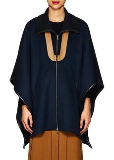 Derek Lam Women's Wool Zip-Front Poncho Jacket