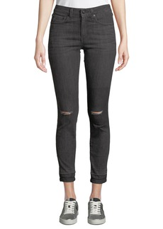 Derek Lam Devi Distressed Mid-Rise Authentic Skinny Jeans