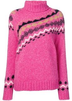 Derek Lam diagonal fair isle sweater